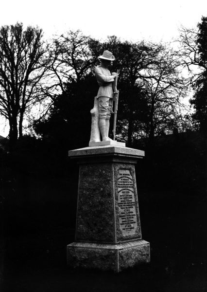 South African war memorial, 1899-1902, with a sculpture of a soldier with head bowed and holding a rifle