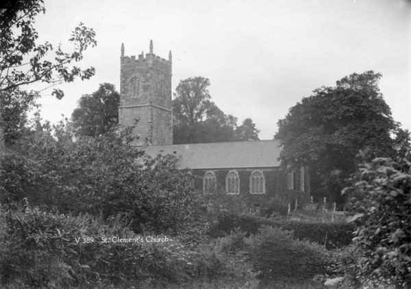 St Clement Church, St Clement, Cornwall. Date unknown but probably early 1900s