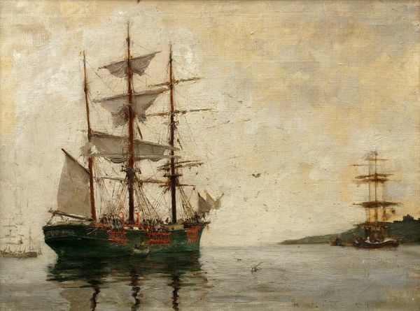 Timber Barque off Pendennis, Henry Scott Tuke (1858-1929)