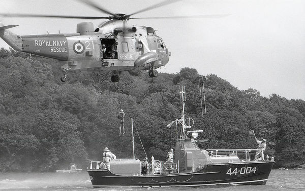 Visiting Fowey in June 1990, Prime Minister Margaret Thatcher met some of the RNLI crew and went for a trip around Fowey harbour in the lifeboat. She watched a mock rescue, from the lifeboat to the RNAS Culdrose helicopter, from the shore at Albert Quay