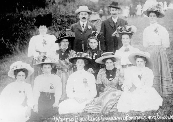 Women's Bible Class, Chacewater, Cornwall. 1911
