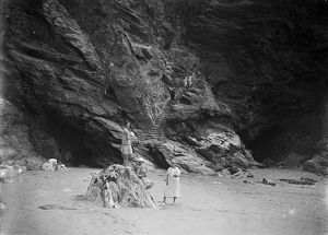 Bedruthan Steps, St Eval, Cornwall. Probably 1920s