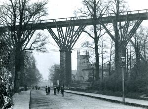 Carvedras Viaduct, St George's Road, Truro, Cornwall. Before 1904