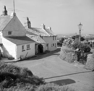 Cottages, Trenale Lane, near Trevillet, Tintagel, Cornwall. 1966