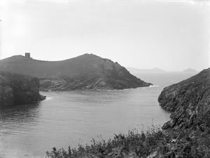 The cove and Rumps Point, Port Quin, St Endellion, Cornwall. 1906