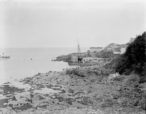 Coverack harbour, St Keverne, Cornwall. Early 1900s