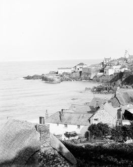 Coverack harbour, St Keverne, Cornwall. 1908