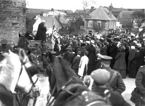 DCLI Ceremonial gathering, Truro?, Cornwall. Around 1915