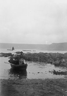 ships/fishing/dinghy fisherman lobster pots cornwall 1900