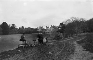 Disc harrowing, Tregothnan House, St Michael Penkevil, Cornwall. 8th April 1918