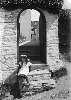 Doorway, Fowey, Cornwall. Early 1900s