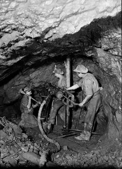 Driving an end at East Pool Mine, Illogan, Cornwall. 1893
