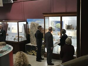 Duke of Cornwall views archaeology collections during a visit to the Royal Cornwall