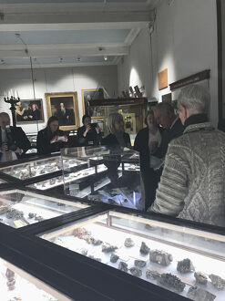 Duke of Cornwall views geology collections during a visit to the Royal Cornwall Museum