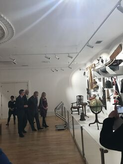 Duke of Cornwall views the Treffry Gallery during his visit to the Royal Cornwall