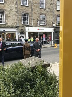 Duke of Cornwall's arrival at the Royal Cornwall Museum to mark the bicentenary