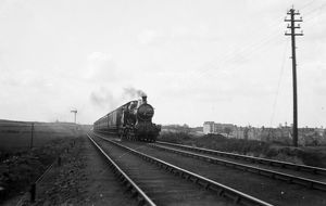 Express passenger train Trevingey, Redruth, Cornwall. Early 1900s