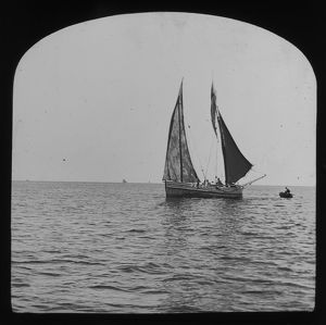 ships/fishing/fishing boat sea sail cornwall 1900