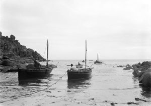Fishing boats, Porthgwarra, Cornwall. Early 1900s