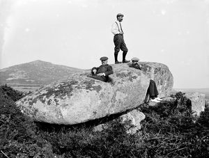 The Giant's Stone, Zennor, Cornwall. 1911