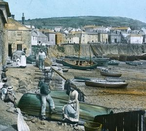 The Harbour, Mousehole, Cornwall. 1890