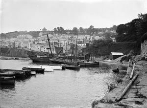 The harbour, Newlyn, Cornwall. 1900s