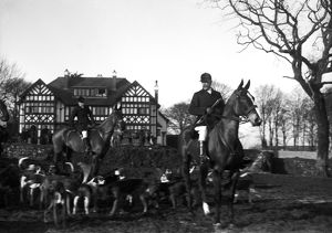 Hunt Meet, Roskrow House, Roskrow, St Gluvias, Cornwall. 1912