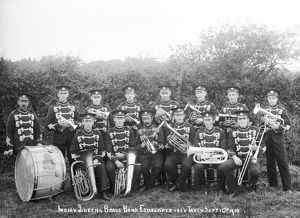 Indian Queens Brass Band, St Columb Major, Cornwall. 1910