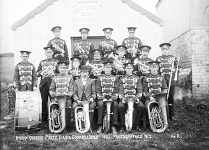 Indian Queens Brass Band, St Columb Major, Cornwall. 1912