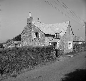 Ivy Cottage, Trenale Lane, near Trevillet, Tintagel, Cornwall. 1966