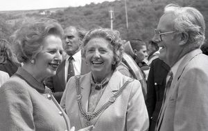 Margaret Thatcher's visit to Fowey, Cornwall. 20th June 1990