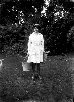 Member of the First World War Women's Land Army. Cornwall. Around 1917