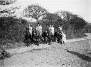 Members of the First World War Women's Land Arm. Tregavethan Farm, Truro, Cornwall