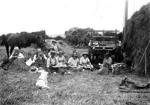 Members of the First World War Women's Land Army and farm hands. Tregavethan Farm