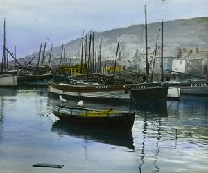 Mousehole harbour, Cornwall. Around 1925