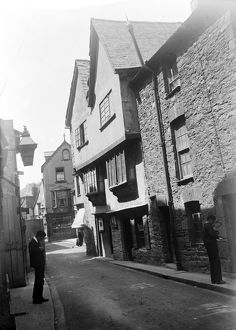 The Noah's Ark on Fore Street, Fowey, Cornwall. About 1910