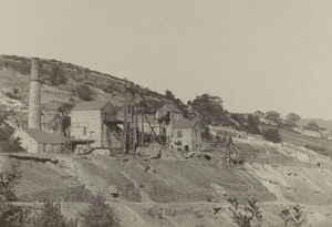Okel Tor Mine, Calstock, Cornwall. Around 1890