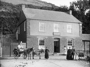 The Five Pilchards Inn, Porthallow, St Keverne, Cornwall. Around 1890s
