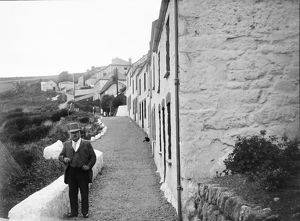 The road leading to Penhallick, Coverack, St Keverne, Cornwall. Early 1900s