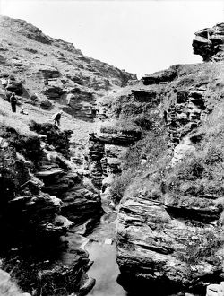 Rocky Valley, Tintagel, Cornwall. Early 1900s