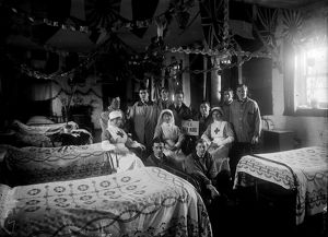 Royal Naval Auxiliary Hospital, St Clement, Truro, Cornwall. Christmas 1916