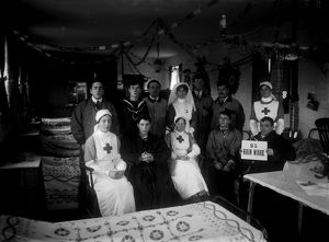 Royal Naval Auxiliary Hospital, Truro, Cornwall. Christmas 1916