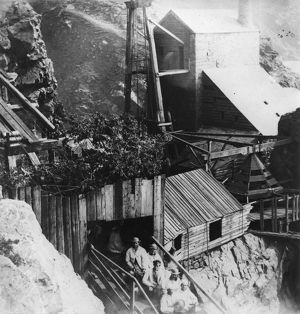The third Royal Party descends the inclined shaft, Botallack Mine, St Just in Penwith, Cornwall