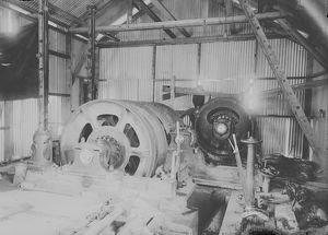 Sandycroft electric winding engine, Giew Mine, St Ives Consols, Cornwall. Around 1909
