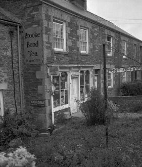 Shop and post office, Denas Water, Tresillian, Cornwall. 1975