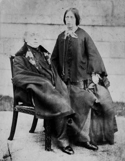 Sir Charles Lemon with his niece Louisa Ann Dyke, Carclew, Mylor, Cornwall. Around 1860