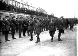 Soldiers in Truro, Cornwall. 2nd December 1917