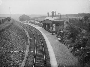St Agnes railway station, Cornwall. Around 1918