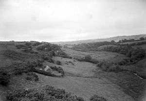 St Clether Chapel and Holy Well in their setting. Cornwall. 1959