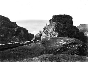 Tintagel Castle, Cornwall. Early 1900s